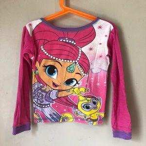 Nickelodeon Shimmer & Shine Size6 Girls Pajama Top